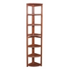"Flip Flop 67"" High Corner Folding Bookcase- Cherry"