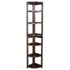 "Flip Flop 67"" High Corner Folding Bookcase- Mocha Walnut"