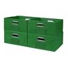 Cubo Set of 4 Half-Size Foldable Fabric Storage Bins- Green