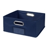 Cubo Half-Size Foldable Fabric Storage Bin- Blue