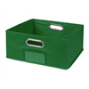 Cubo Half-Size Foldable Fabric Storage Bin- Green