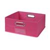 Cubo Half-Size Foldable Fabric Storage Bin- Pink