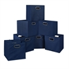 Cubo Set of 12 Foldable Fabric Storage Bins- Blue