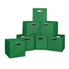 Cubo Set of 12 Foldable Fabric Storage Bins- Green