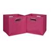 Cubo Set of 2 Foldable Fabric Storage Bins- Pink