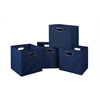 Cubo Set of 4 Foldable Fabric Storage Bins- Blue