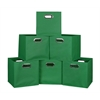 Cubo Set of 6 Foldable Fabric Storage Bins- Green