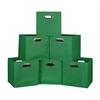 Cubo Set of 6 Foldable Fabric Storage Bins- Green