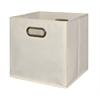 Cubo Foldable Fabric Storage Bin- Beige