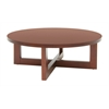 "Chloe 37"" Round Coffee Table- Cherry"