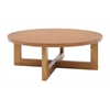 "Chloe 37"" Round Coffee Table- Medium Oak"