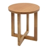 "Chloe 21"" Round End Table- Medium Oak"