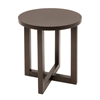 "Chloe 21"" Round End Table- Mocha Walnut"
