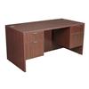"Legacy 60"" Double Pedestal Desk- Mahogany"