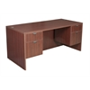"Legacy 66"" Double Pedestal Desk- Mahogany"