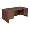 "Legacy 71"" Double Pedestal Desk- Mahogany"