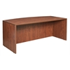 "Legacy 71"" Bowfront Desk Shell- Cherry"