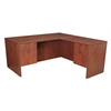 "Legacy 66"" Double Pedestal L-Desk with 47"" Return- Cherry"