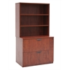 Legacy Lateral File with Open Hutch- Cherry