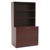 Legacy Lateral File with Open Hutch- Mahogany