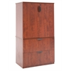 Legacy Lateral File with Stackable Storage Cabinet- Cherry