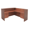 Legacy Double Box File Pedestal Reception Desk- Cherry