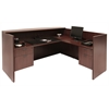 Legacy Double Box File Pedestal Reception Desk- Mahogany