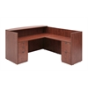 Legacy Box Box File/ File File Pedestal Reception Desk- Cherry
