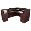 Legacy Box Box File/ File File Pedestal Reception Desk- Mahogany