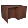 Legacy Stand Up Desk/ 3 Lateral File Quad- Cherry