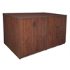 Legacy Stand Up Storage Cabinet/ 3 Lateral File Quad- Cherry
