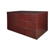 Legacy Stand Up Storage Cabinet/ 3 Lateral File Quad- Mahogany