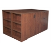 Legacy Stand Up 2 Storage Cabinet/ Lateral File/ Desk Quad with Bookcase End- Cherry