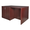Legacy Stand Up 2 Storage Cabinet/ 2 Desk Quad- Mahogany
