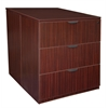 Legacy Stand Up Back to Back Lateral File/ Desk- Mahogany