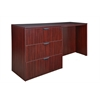 Legacy Stand Up Side to Side Lateral File/ Desk- Mahogany