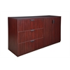 Legacy Stand Up Side to Side Storage Cabinet/ Lateral File- Mahogany