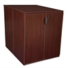 Legacy Stand Up Back to Back Storage Cabinet/ Desk- Mahogany