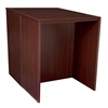 Legacy Stand Up Back to Back Desk/ Desk- Mahogany