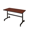 "Kobe 48"" x 30"" Flip Top Mobile Training Table- Cherry"