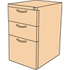 Fusion Box Box File Pedestal- Black