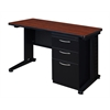 "Fusion 48"" x 24"" Single Pedestal Desk- Cherry"