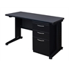 "Fusion 48"" x 24"" Single Pedestal Desk- Grey"