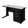 "Fusion 48"" x 24"" Single Pedestal Desk- Maple"