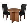 "Mod 30"" Round Table- Warm Cherry & 2 Tyler Dining Chairs- Black/Cherry"