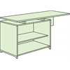 "OneDesk 62"" Open Storage Cabinet Return- Java"