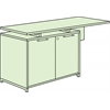 "OneDesk 62"" Storage Cabinet Return- Java"