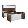 """OneDesk 71"""" U-Desk with Hutch- Java"""