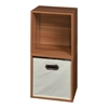 Cubo Storage Set - 2 Cubes and 1 Canvas Bin- Warm Cherry/Natural