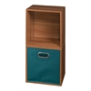 Cubo Storage Set - 2 Cubes and 1 Canvas Bin- Warm Cherry/Teal